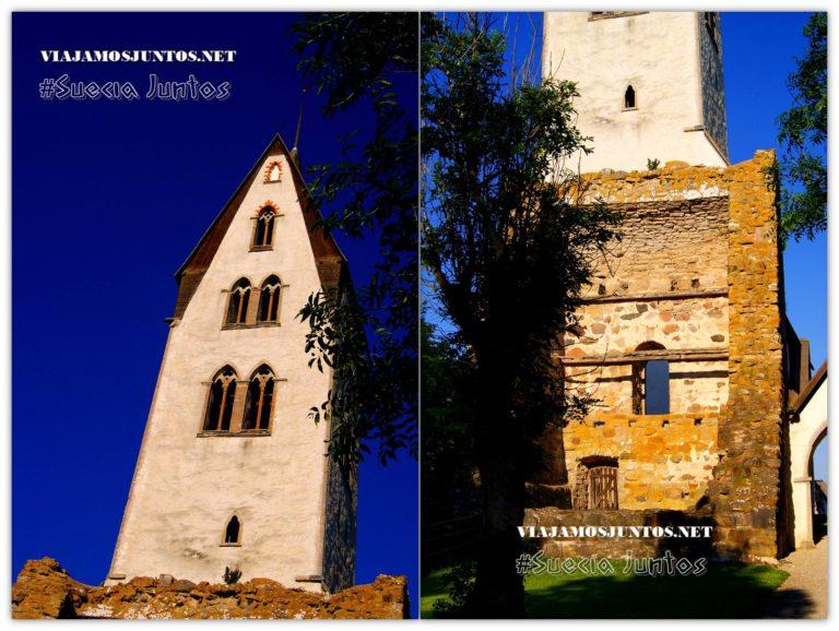 Llegando a la iglesia de Gothem, la isla de Gotland, Suecia