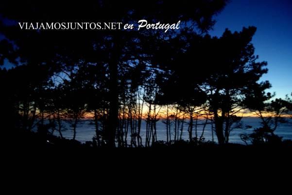 paisaje nocturno en la península de Setúbal