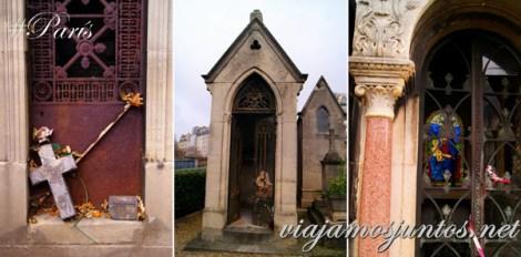 Las tumbas dejadas. Cementerios de París, Montmarte. Francia