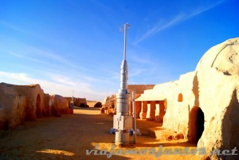 Star Wats a tope. Tozeur, el Sur de Túnez.