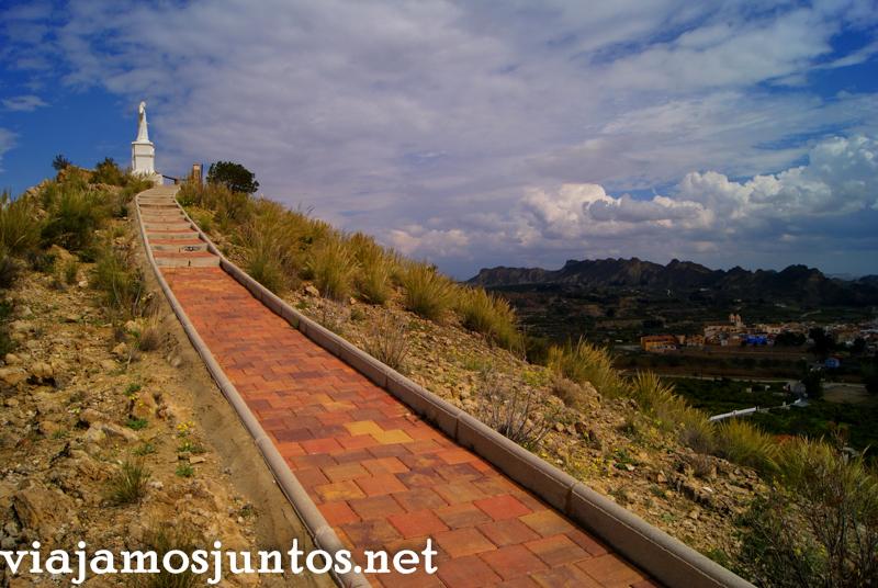 El Mirador del Corazón de Jesús Ruta en coche por el Valle de Ricote, Murcia. Pasado islámico