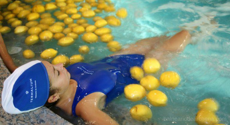 Piscina de limones. Balnea de Archena Balneario de Archena, relax en Murcia