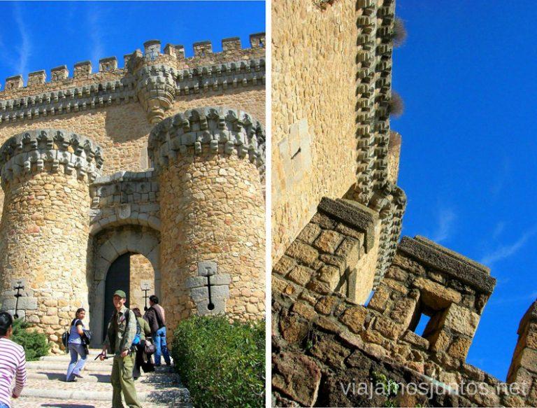 La entrada del Castillo de los Mendoza hacer y que ver en la Pedriza, Parque Regional de la Cuenca Alta del Manzanares, y el Manzanares el Real