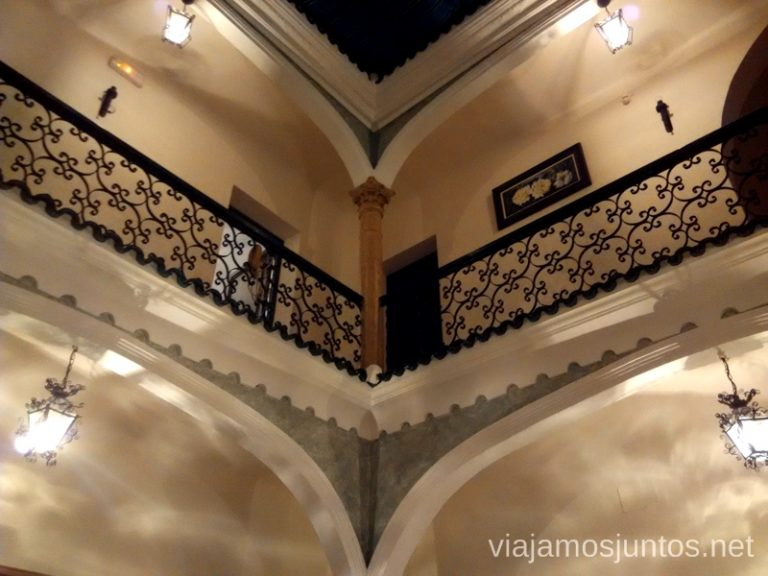 Patio interior del hotel 5 ranas Donde comer y alojarse en el Valle de Alcudia, Edén de la Mancha, Castilla la Mancha