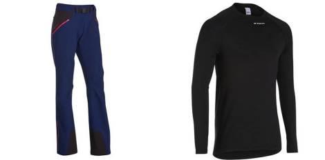 Pantalón y térmica para invierno. Decathlon