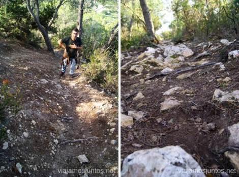 La subidita cuesta un poco Rutas de senderismo fáciles por la isla de Ibiza. Invierno o verano. Playa, montaña y calas secretas