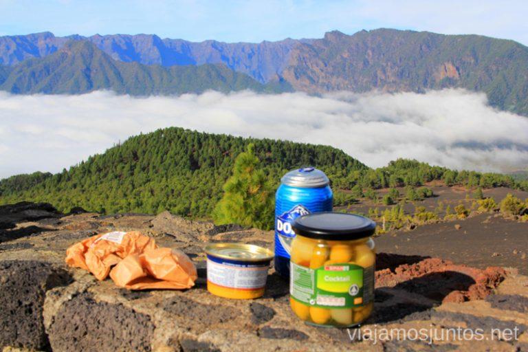 Comida con las mejores vistas de La Palma, desde el mirador de Jable Un viaje a la isla de La Palma, islas Canarias