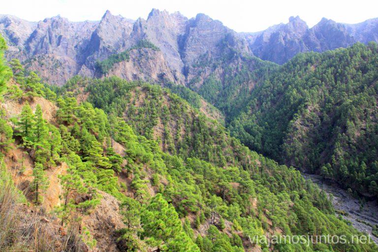 Caminando por la Caldera de Taburiente Un viaje a la isla de La Palma, islas Canarias