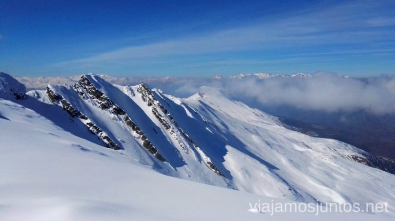 Vistas desde la pista panorámica Peña Labra Esquiar en Alto Campoo. Descripción de mi estación de esquí favorita de Cantabria