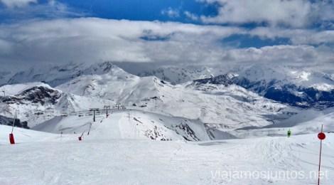 Vistas desde una de mis pistas favoritas - la Rinconada Esquiar en Formigal Donde encontrar mejores ofertas para esquiar barato en la estación de esquí Formigal Grupo Aramón