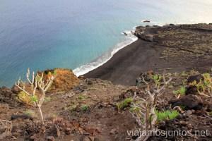 Playa del Azufre desde arriba Las playas de la Palma, Islas Canarias. Mejores playas.