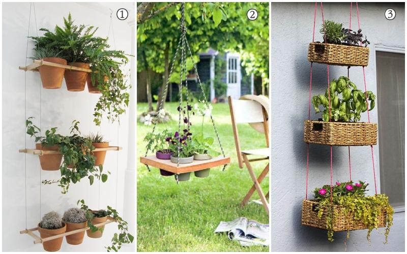Plantas suspensas na rea de servi o inspira es for Estantes para plantas exteriores