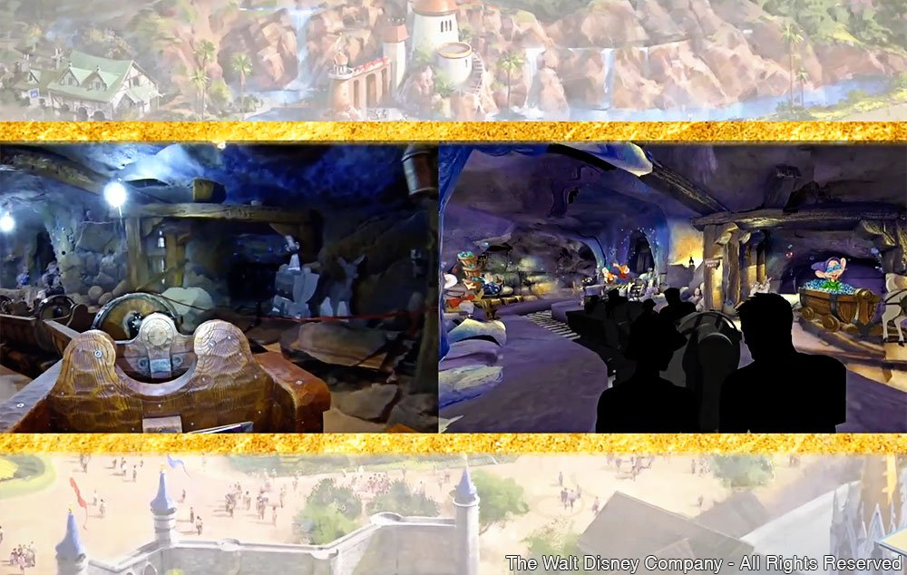 Os Imagineiros divulgaram mais informações sobre a nova atração Seven Dwarfs Mine Train