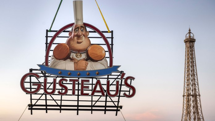 Sign for Gusteau's Restaurant