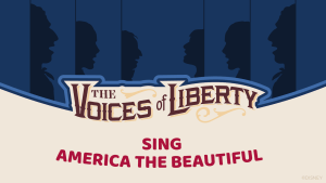 """Voices of Liberty cantando """"America the Beautiful"""""""