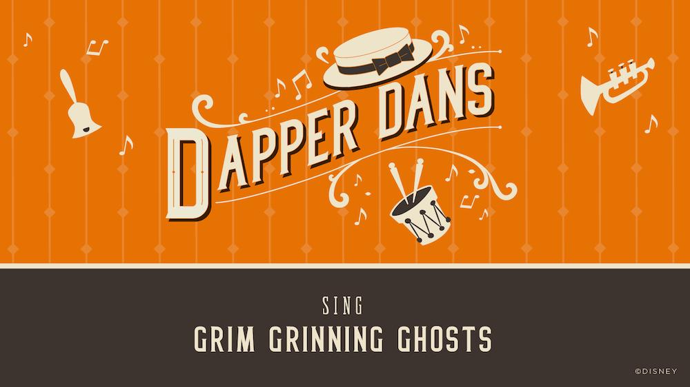 "Dapper Dans cantando ""Grim Grinning Ghosts"""