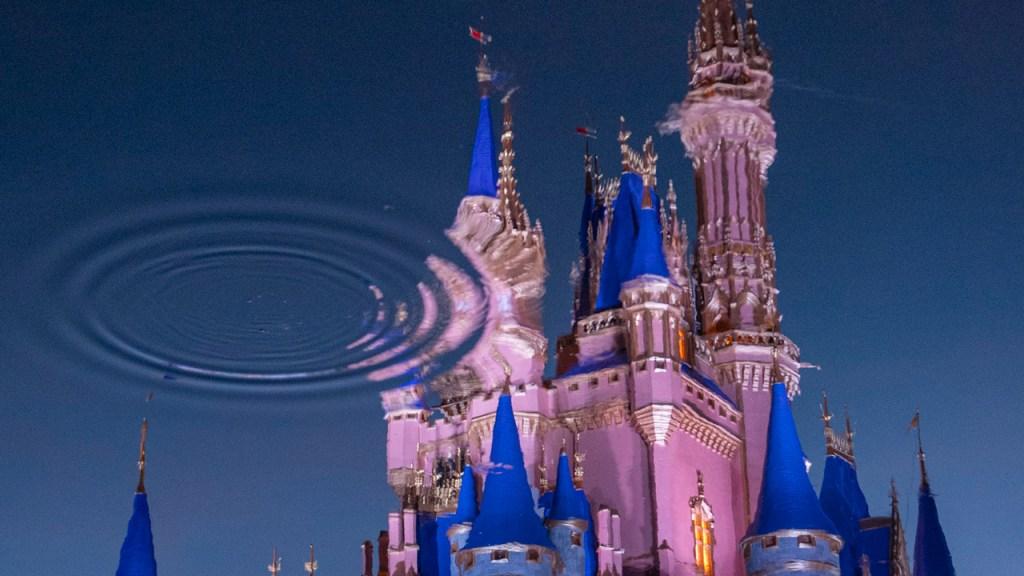 Reflection of Cinderella Castle at Magic Kingdom Park