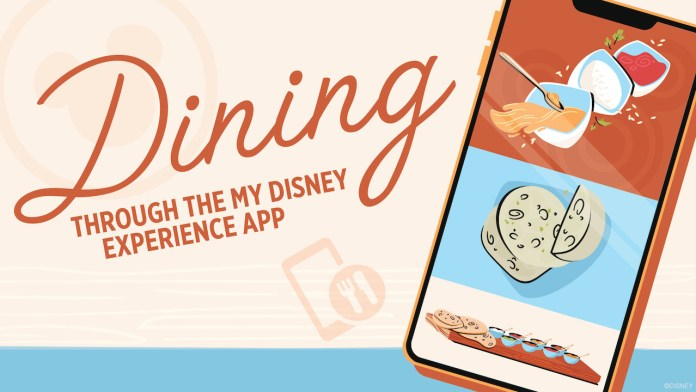 My Disney Experience App Dining enhancements graphic