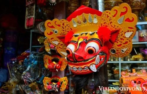 Mascara ceremonial de danza balines