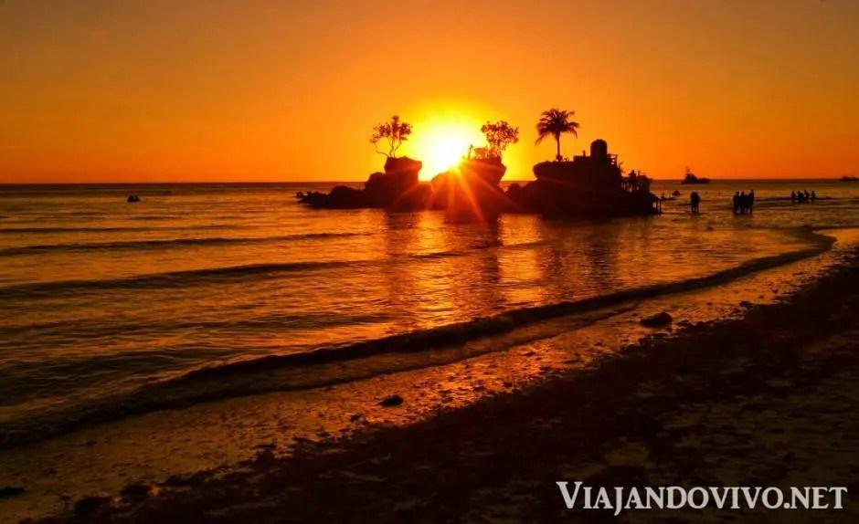 Atardecer en White Beach, Boracay