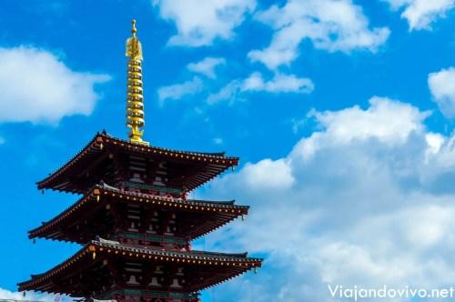 La pagoda del Templo Shitenno ji