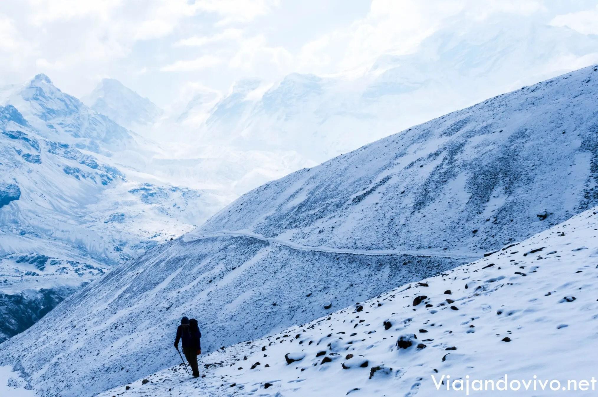 Celeste en la última etapa del Circuito de Annapurna en Nepal