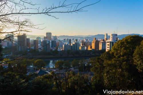 La vista de Hiroshima desde el mirador del parque