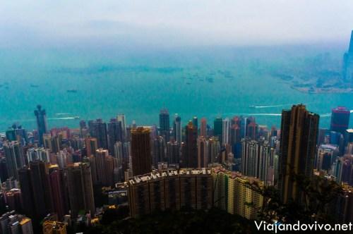 Mirador del Victoria Peak, en Hong Kong