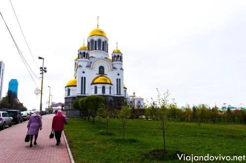 Iglesia en la Sangre en Ekaterimburgo