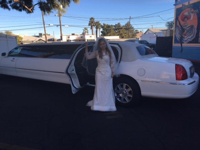 Limousine no casamento em Las Vegas