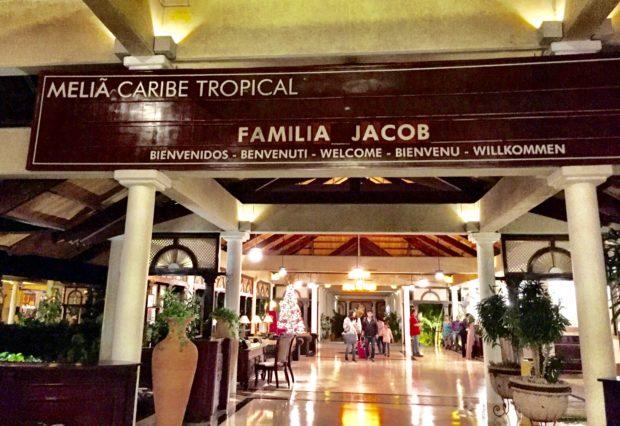 Entrada do Meliã Caribe Tropical