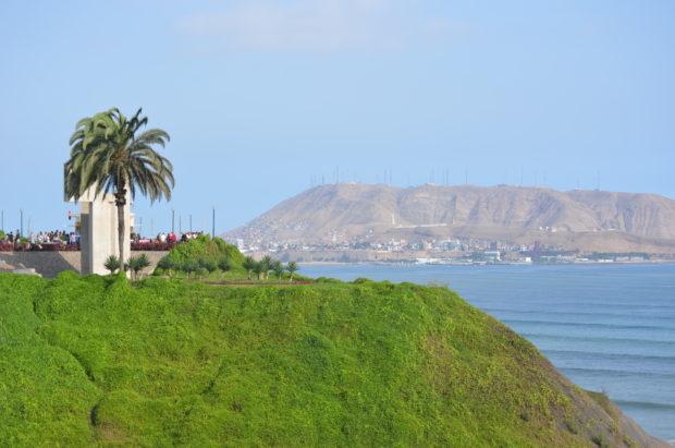 Vista da orla em Lima