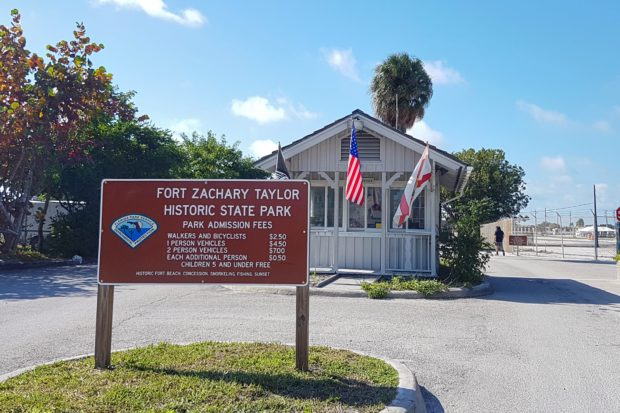 Entrada do Fort Zachary Taylor Historic State Park