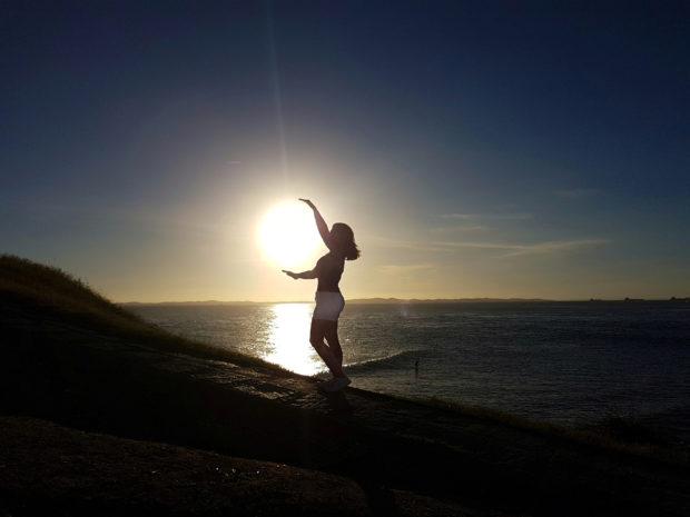 Pôr do Sol no Farol da Barra em Salvador