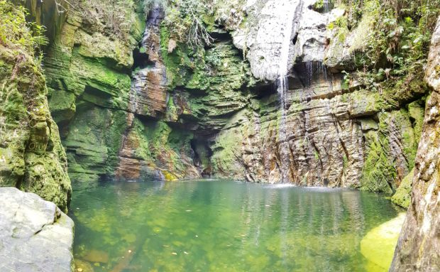 Cachoeira da Gruta em Salto Corumbá-Goiás