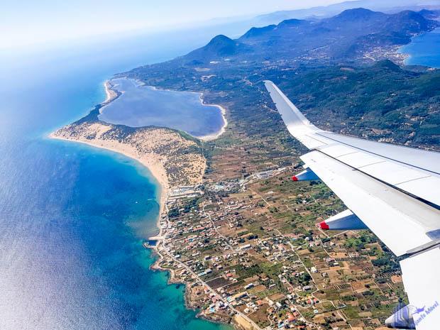 vista aerea corfu ilhas jonicas