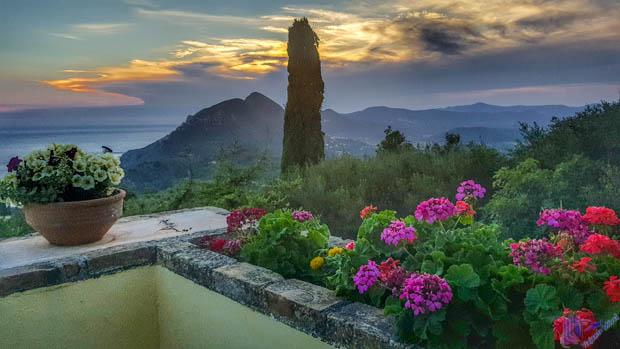 Pôr do Sol em Corfu na Grécia