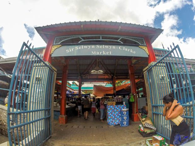 Entrada do Mercado em Mahe - Seychelles