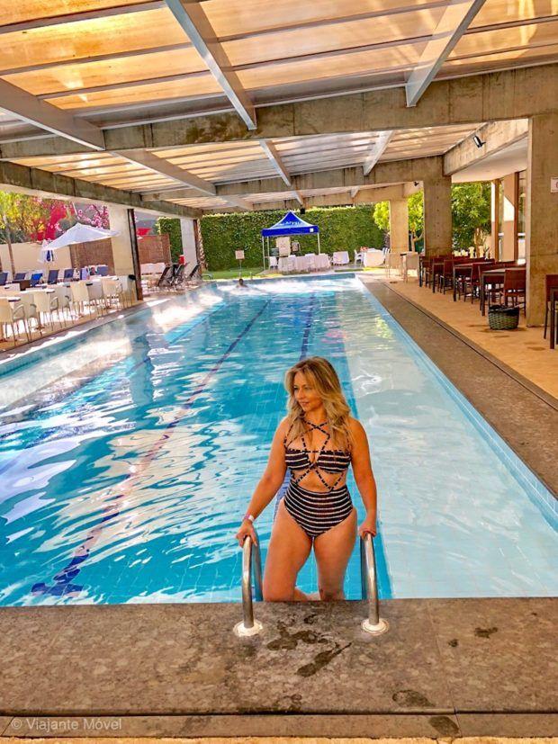 Piscina de águas termais do Hotel Le Jardin