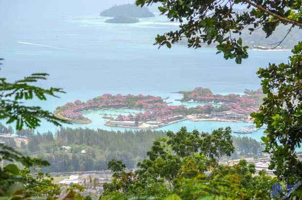 Vista a partir do Monte Copolia em Mahe - Seychelles