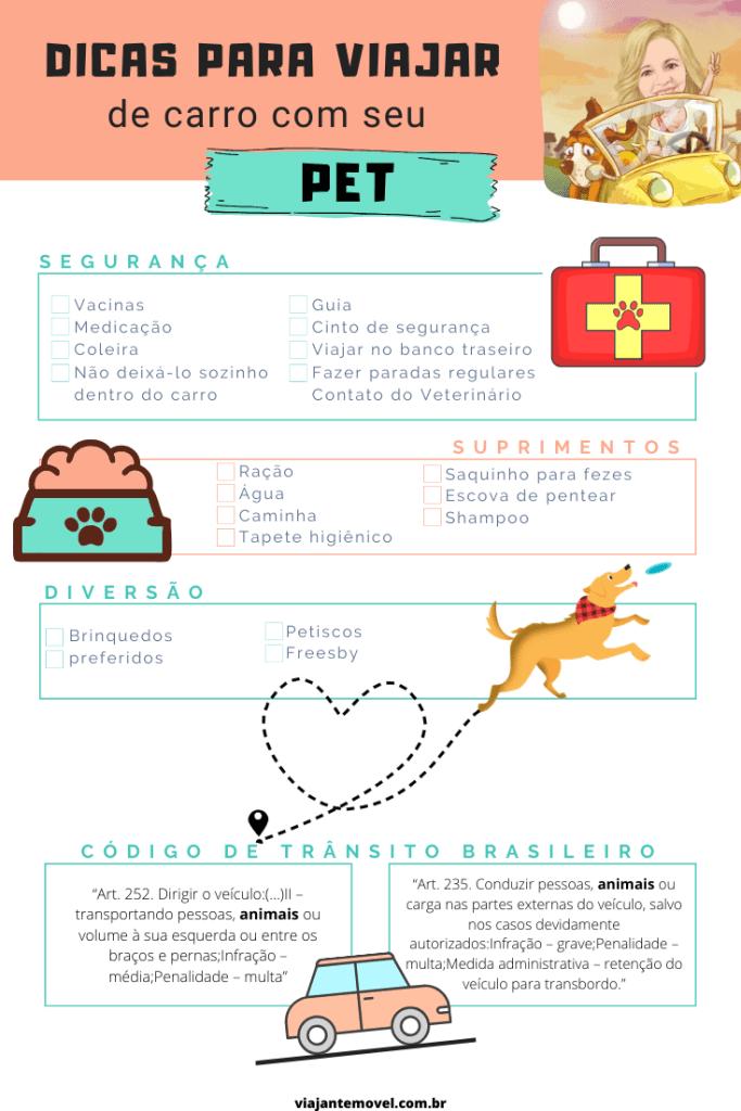Dicas para viajar de carro com seu pet - checklist