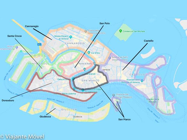 Bairros de Veneza: Onde ficar