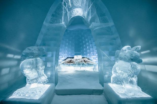icehotel, um hotel de gelo na suecia-hoteis diferentes