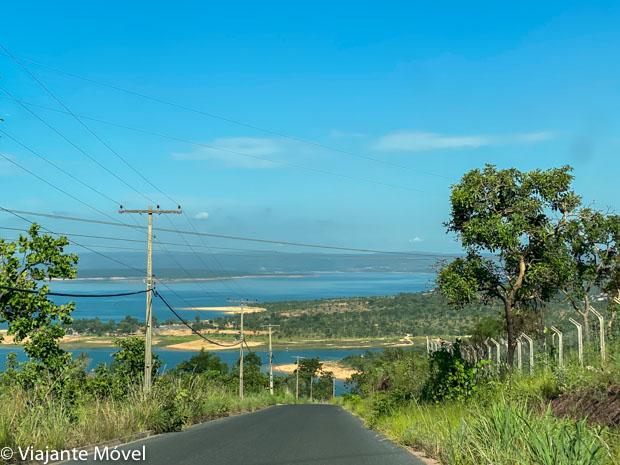 Estrada com vista do lago - O que fazer em Três Marias
