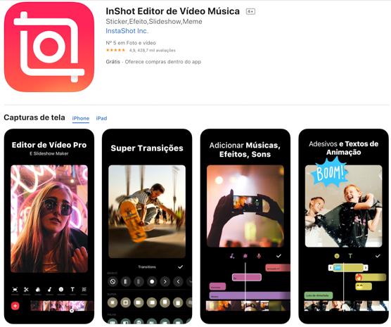 inshot: aplicativos incríveis para criar Stories do Instagram