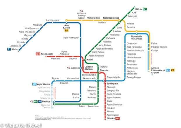 Como é o metro de Atenas na Grécia