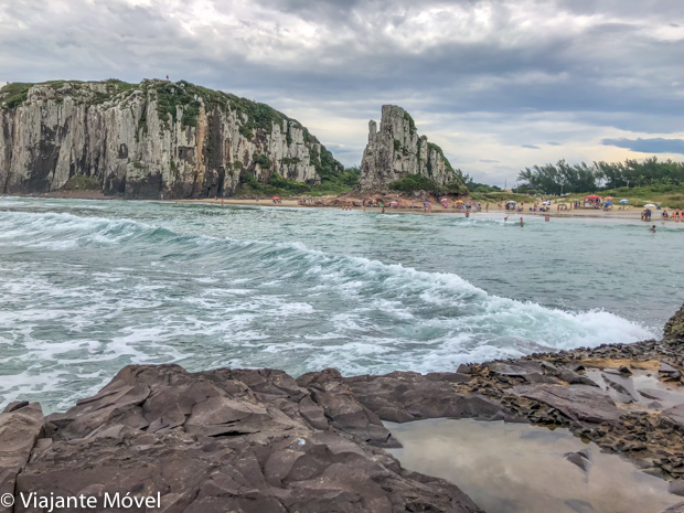 As praias da cidade de Torres no Rio Grande do Sul