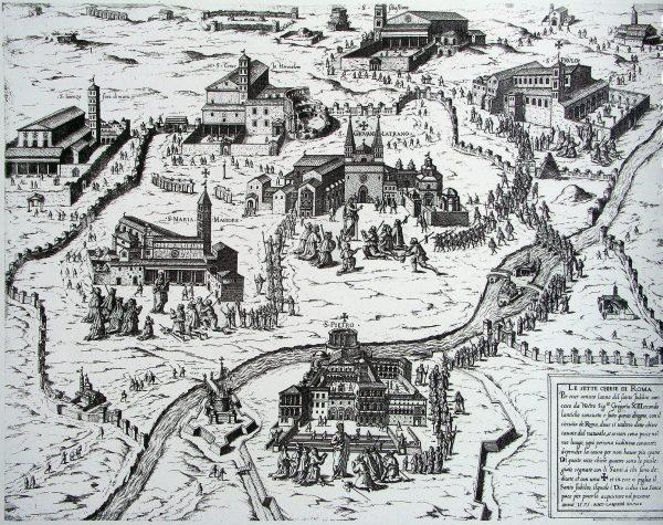 Antoine Lafréry, Le sette chiese di Roma. Anno Santo 1575.