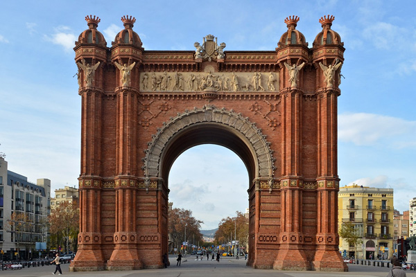 Arc de Triomf de Barcelona, foto de Selbymay Wikimedia Commons
