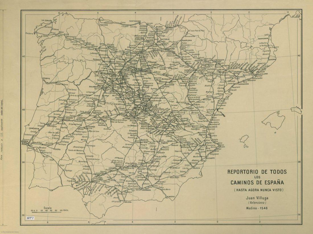 Repertorio de todos los Caminos de Espana de Juan Villuga